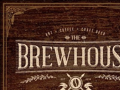 Brewhouse Gallery | Logo art coffee craft beer gallery vintage retro hand lettering