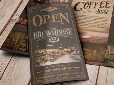 Brewhouse Gallery | Brochure art branding brewing colorado happy hour beer coffee craft beer gallery vintage retro hand lettering