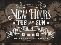 New Hours | The Brewhouse Gallery
