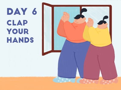 DAY 6 - Clap your hands product illustration design applause clap quarantine stay safe stay home adobe photoshop illustrator character design illustration