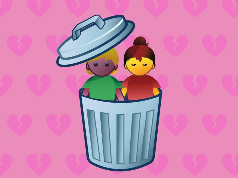 Breakup Emoji: Happy Valentines designs emoji illustration illustrator vector design relationship breakup valentines dribbble meetup