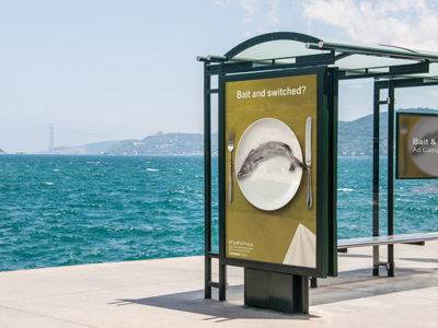 Bait and Switched Ad Campaign | Poster Mockup advertising ad ad campaign fish art marine biology public awareness photo manipulation photoshop graphic design mockup