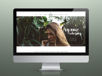 Head Salon Emporium Website user experience user interface interface design front end art beauty salon home homepage website