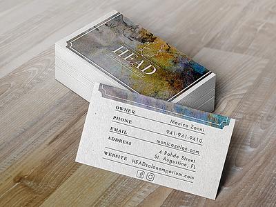 Head Salon Emporium Business Cards layout beauty salon print press business cards print