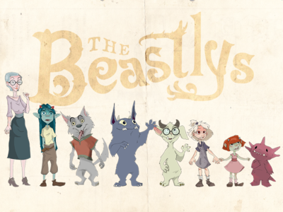 Beastlys Character Designs foster home ui ux user interface design monsters characters art eclectic victorian childrens app app design character design