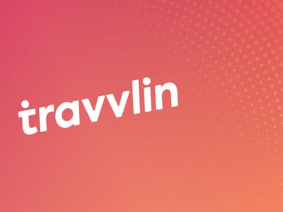 travvlin logo branding app orange brand social media travel design logo