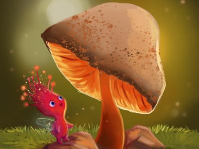 Mushroom Fairy illustrator book childrens book story mushroom fairy fantasy digital illustration photoshop illustration character design