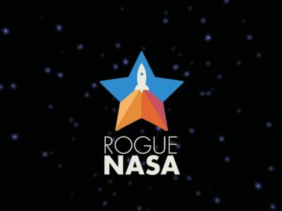 Rogue Nasa Logo rocket planets star graphic design design throwback space nasa brand logo