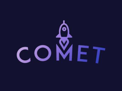 Rocketship Logo brand comet space rocket daily logo challenge graphic design logo dailylogochallenge