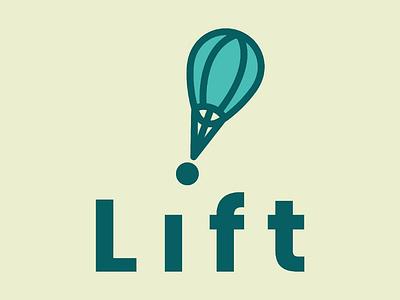 Lift Logo hot air balloon logo daily logo challenge