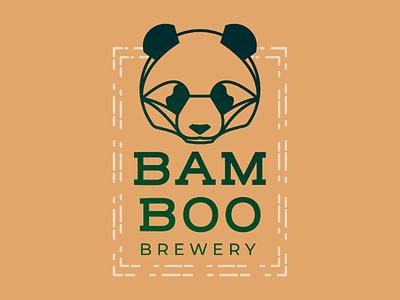 Bamboo Brewery branding bee brewery bamboo china daily logo challenge panda logo