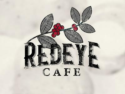 RedEye Cafe coffee vintage brand identity brand logo coffee shop daily logo challenge