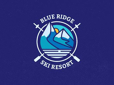 Ski Mountain Logo designer brand identity brand blue ridge mountain hotel resort ski logo daily logo daily logo challenge