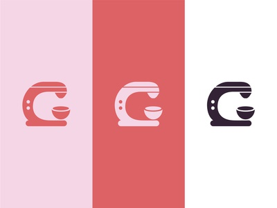 Graces Bakes Logo Variations retro design retro vector minimal logo illustrator illustration icon design branding