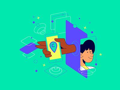 Clinspace medical healthcare clinspace startup branding design vector illustration