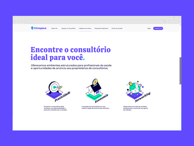 Clinspace medical healthcare ui website icon startup branding typography illustration design clinspace