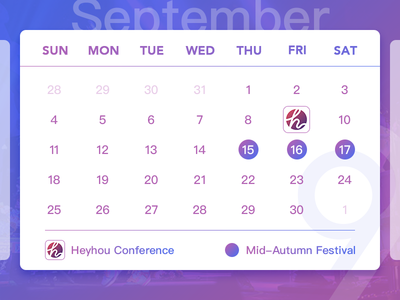 September Calendar 2016
