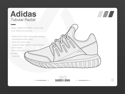 #SHOES I OWN# 03 Adidas Tubular Radial ui sneaker shoe
