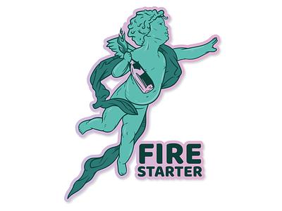 FireStarter vector вектор drawing иллюстратор print illustrator рисунок иллюстрация logo illustration