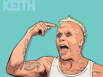 KEITH FLINT drawing illustrator design иллюстрация арт рисунок вектор music draw vector art keith flint prodigy illustration