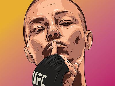 ROSE рисунок иллюстрация иллюстратор вектор vector ufc sportillustration portrait illustration design art