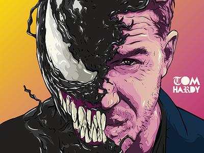 Venom art рисунок movie illustrator иллюстрация иллюстратор drawing hadry venom vector illustration
