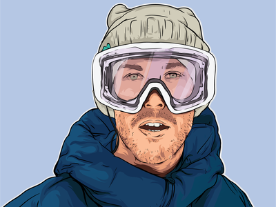 Portrait drawing snowboarding sportillustration вектор рисунок illustrator illustration иллюстрация