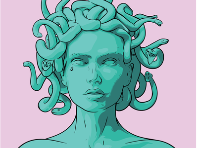 MEDUZA print design иллюстратор art illustrator рисунок drawing вектор иллюстрация vector illustration