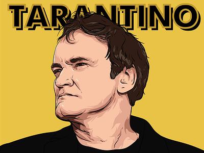 Tarantino дизайн портрет тарантино film poster movie films tarantino design print art drawing рисунок vector вектор иллюстрация illustration