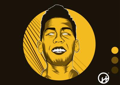 Vector Art of Football Player