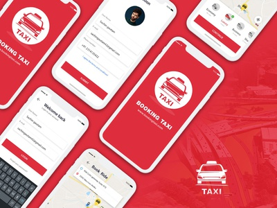 UI/UX for Taxi Hiring mobile app
