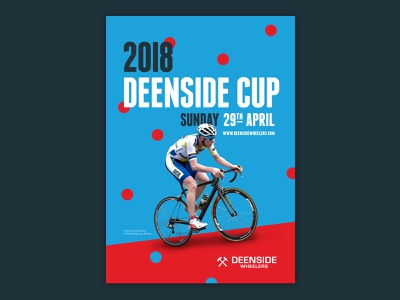 Deenside Cup 2018 cycling graphics cycling poster race road race typographic typography type minimal design cycling poster