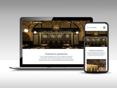 Dunmore website ui design ux design web design websites responsive website responsive web design identity minimal typography brand identity website website design