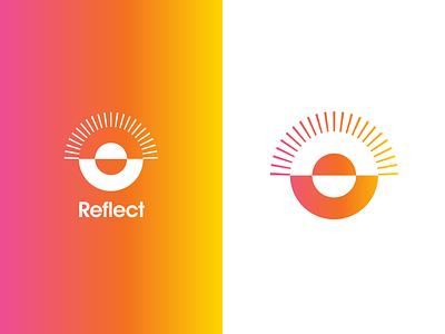 Reflect Identity type branding logo mark logo design identity design identity typography graphic icon logo minimal