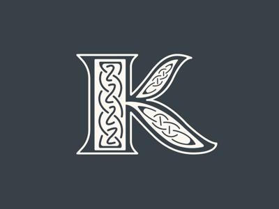 K type love typo letterporn letters gaelic irish lettering k typography type