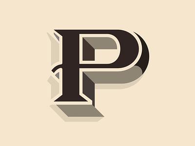 Irish type - P lettering minimal typo found-type found ireland irish vector typography type