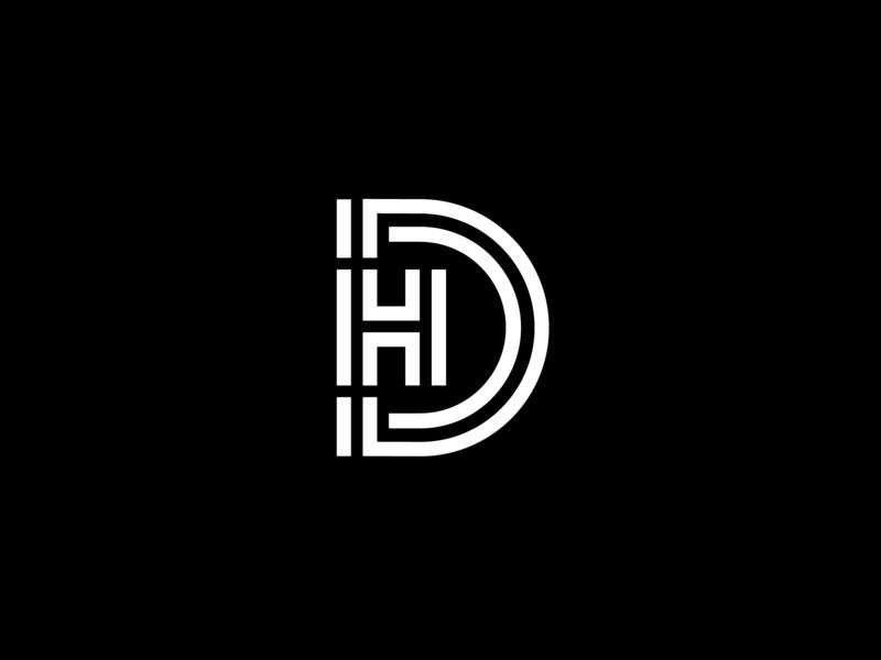 DH graphic logo vector identity minimal icon