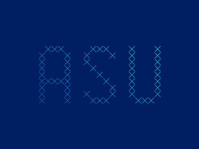 ASU type vector custom lettering typography type
