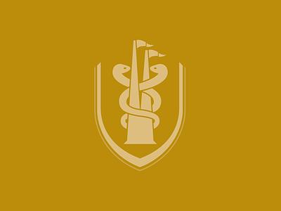 UL Medical School school medical minimal graphic logo illustration vector icon crest