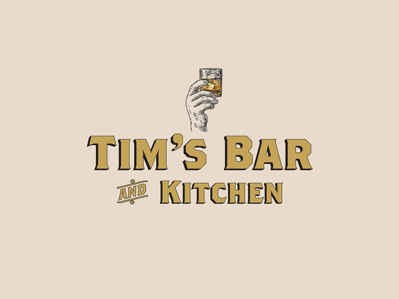 Tim's Bar and Kitchen branding brand identity typography kitchen bar lettering type illustration logo