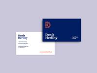 Denis Herlihy Business Cards minimal logo business card brand identity brand design identity brand
