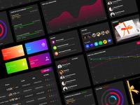 gamification ui dark gamification dashboard dark ux web user card ui