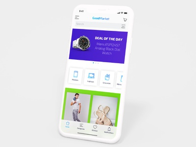 E Commerce Home Screen
