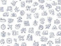 Business doodle background