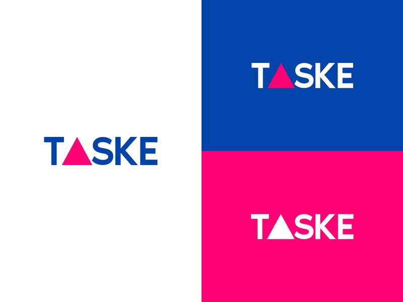 T▲SKE Logo illustration branding brand logo taske t▲ske