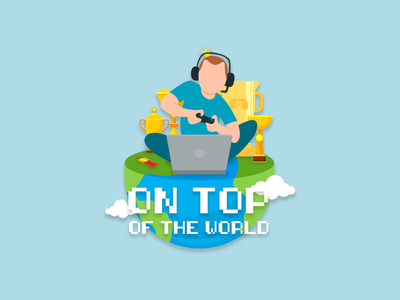 On Top Of The World design illustration