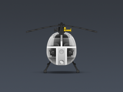 Helicopter icon unused free psd