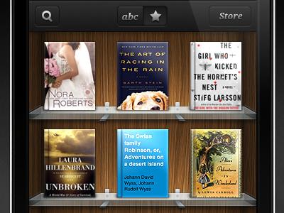 wip bookstore ui wip ios iphone ipad woody book store reader icon ui