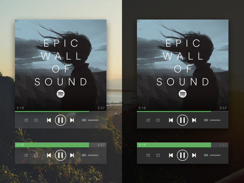 Spotify Mini Player - [001] #dailyui by Tyler Trevell on Dribbble
