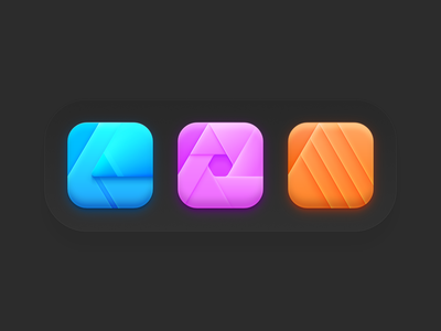 Affinity Suite Icons for macOS Big Sur affinity icons affinity apps icons neomorphism big sut macos big sur bigsur affinitydesigner madeinaffinity